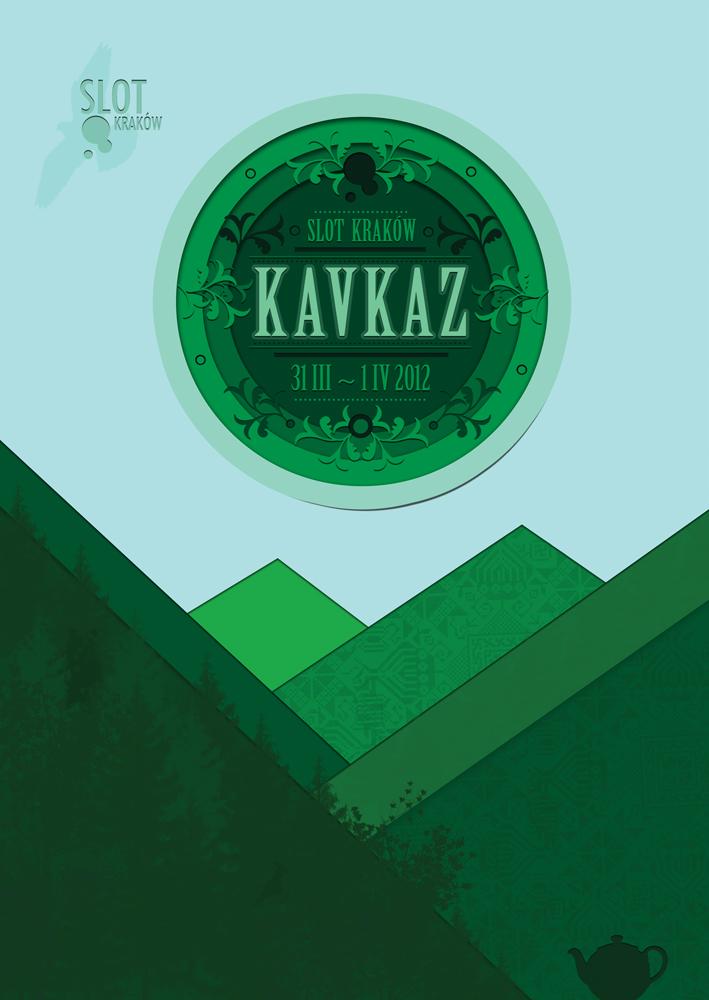 """Plakat SLOT Fest """"O Wschodzie"""" Kaukaz (źródło: materiały organizatora)"""