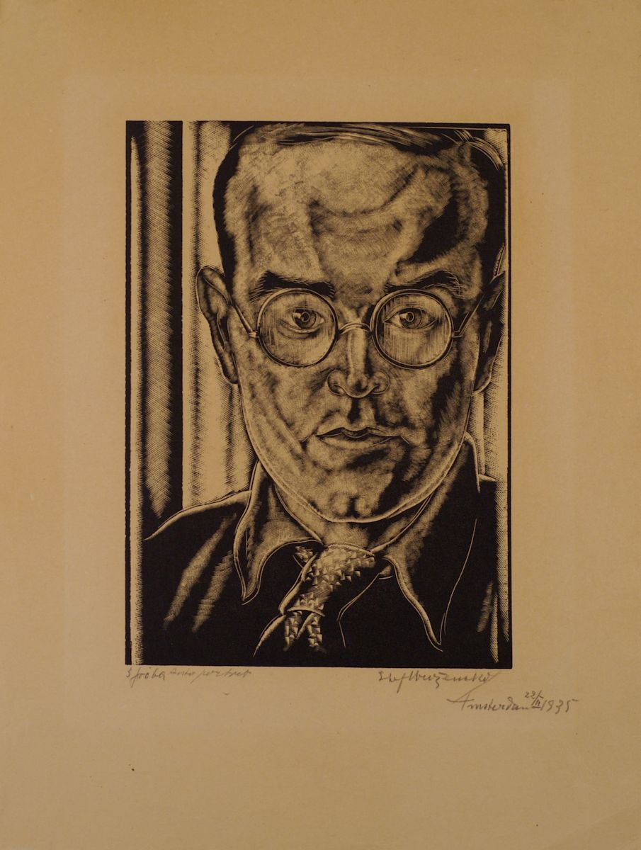 """Stefan Mrożewski, """"Autoportret"""", Amsterdam 22 II 1935 (źródło: materiał prasowy)"""