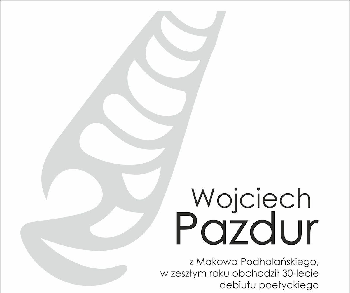 Spotkanie z Wojciechem Pazdurem, plakat (źródło: materiał prasowy)