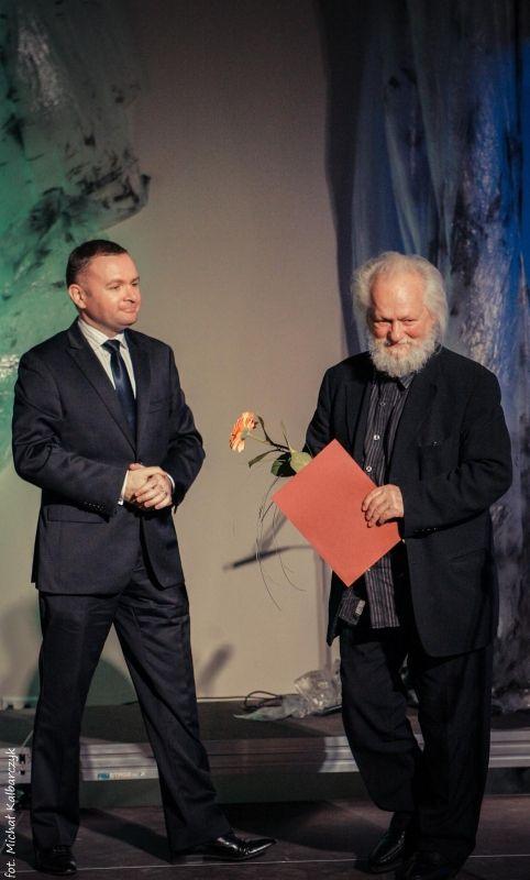 Wręczenie Elbląskiej Nagrody Kulturalnej Gerardowi Kwiatkowskiemu, 24 kwietnia 2012 roku (źródło: materiał prasowy)