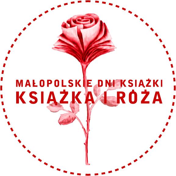 """Logo Małopolskich Dni Książki """"Książka i Róża"""" (źródło: materiały prasowe)"""