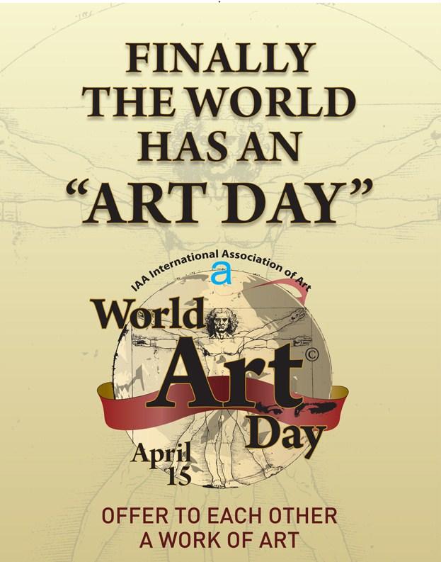 Plakat Światowego Dnia Sztuki (źródło: materiały prasowe)