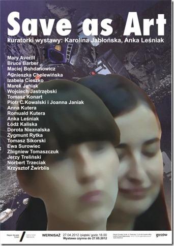 """Wystawa """"Save as art"""", plakat (źródło: materiał prasowy)"""