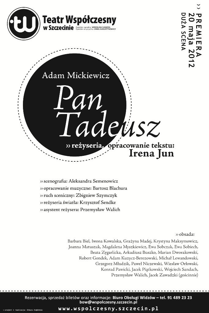 """""""Pan Tadeusz"""", reż. Irena Jun (źródło: materiały prasowe organizatora)"""