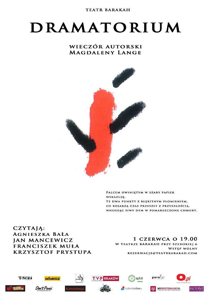 Dramatorium w Teatrze Barakah, projekt: Bolesław Pająk (źródło: materiały prasowe organizatora)