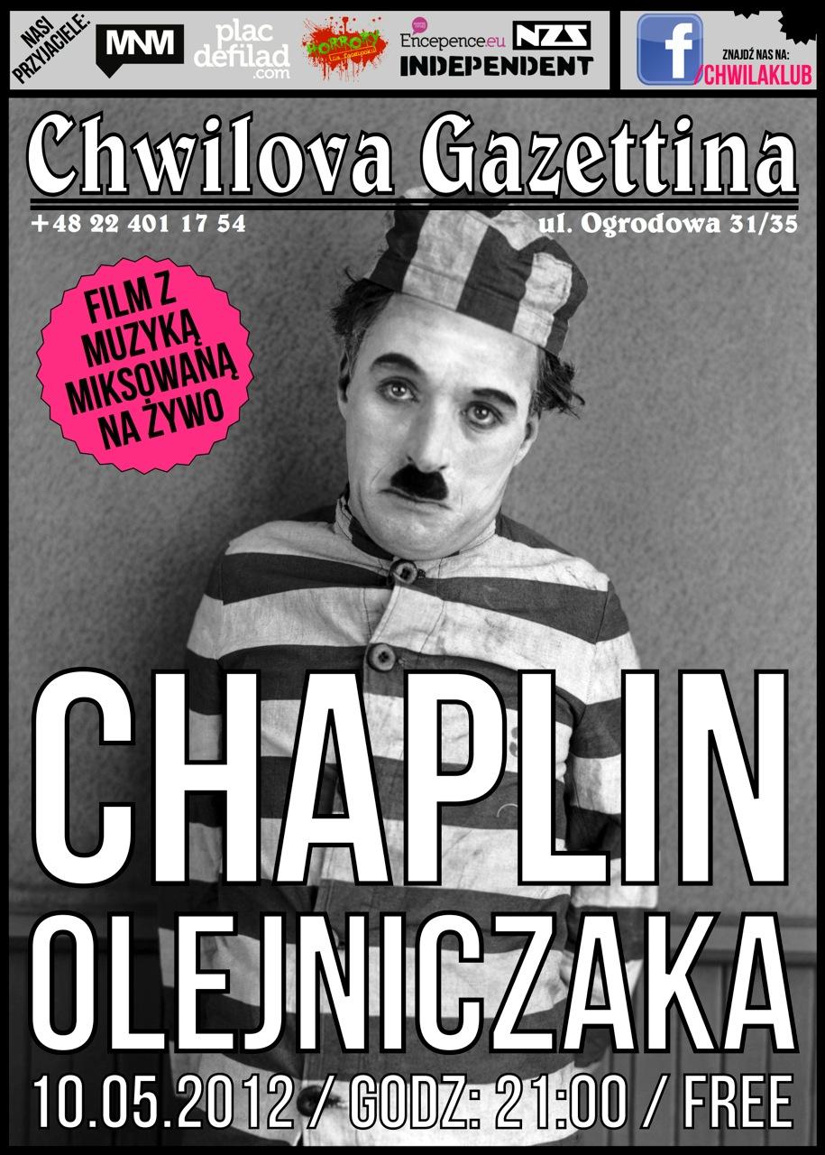 """Plakat """"Chaplin Olejniczaka"""" (źródło: materiały prasowe)"""
