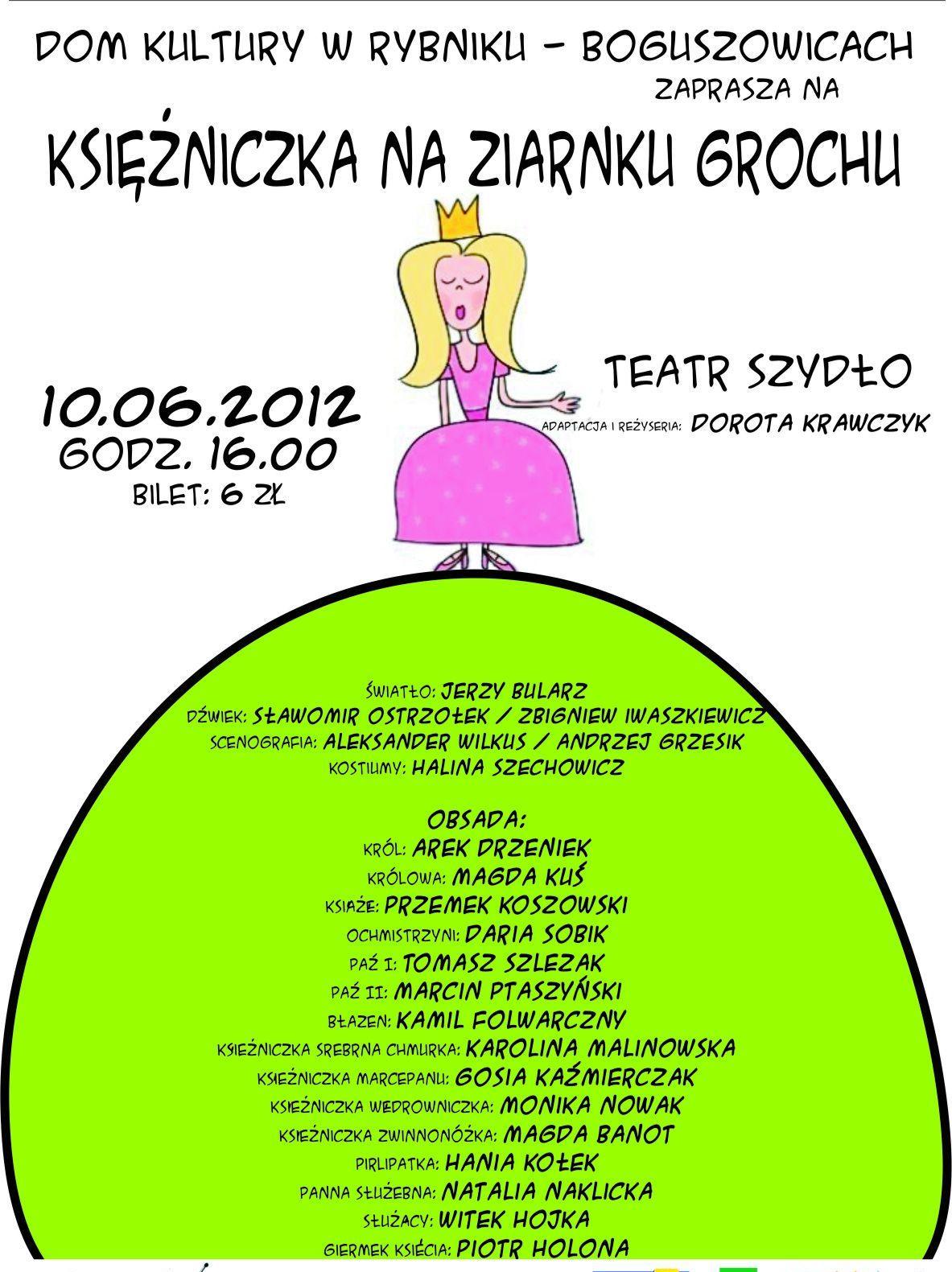 """""""Księżniczka na ziarnku grochu"""", reż. Dorota Krawczyk (źródło: materiały prasowe organizatora)"""