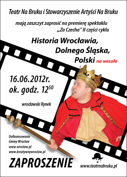"""""""Historia Wrocławia na wesoło – Cz. II Za Czecha"""" (źródło: materiały prasowe organizatora)"""
