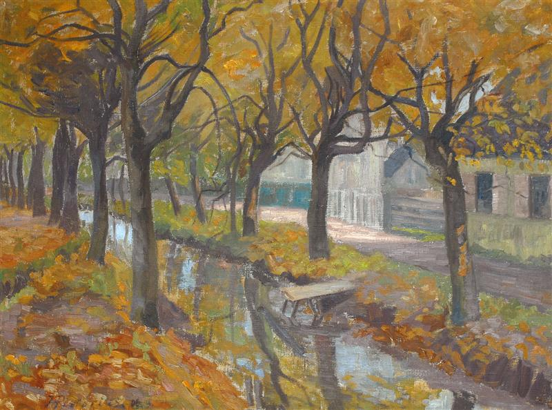 """Joanna Pistorius, """"Kanał we Wrocławiu"""", 1908 (źródło: materiały prasowe)"""