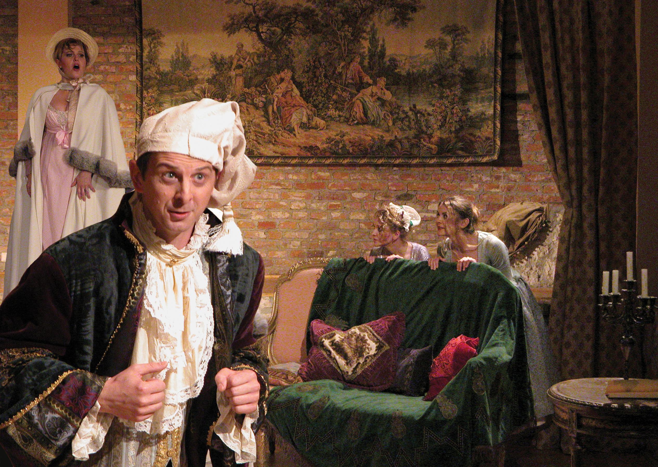 """Scena z """"Don Pasquale"""" w wykonaniu Krakowsiej Opery Kameralnej (źródło: materiały prasowe orgznizatora)"""