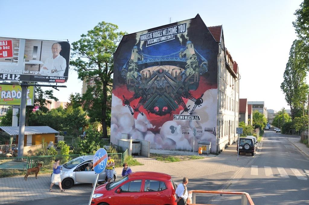Mural na kamienicy przy ul. Młynarskiej (źródło: materiały prasowe organizatora)