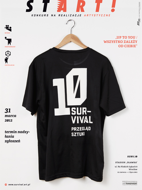 10. Przegląd sztuki Survival, plakat (źródło: materiały prasowe)
