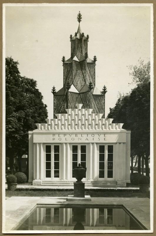Pawilon Polski na Międzynarodową Wystawa Sztuki Dekoracyjnej w Paryżu 1925, repr. za: Biblioteka ASP w Warszawie