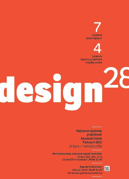 Najlepsze Dyplomy Projektowe Akademii Sztuk Pięknych 2012, plakat (źródło: materiały prasowe)