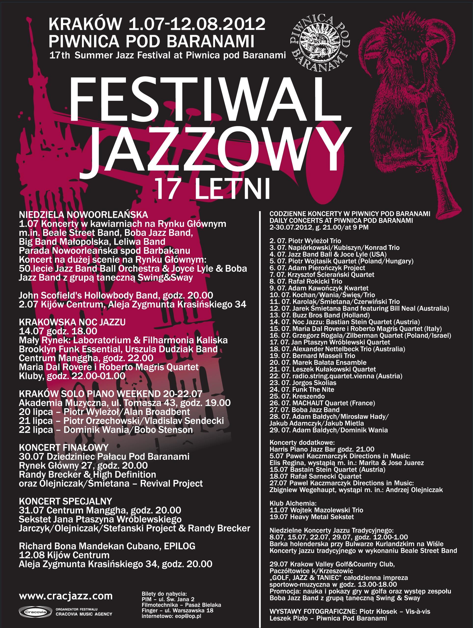 Plakat Festiwalu (źródło: materiały prasowe organizatora)