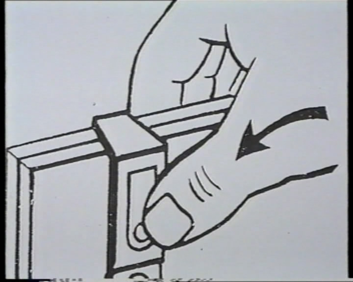 """Alexandre Perigot, """"Reanimacja no 2/5"""", 1993, wideo (1'30"""") (Kolekcja Galerii Arsenał)"""