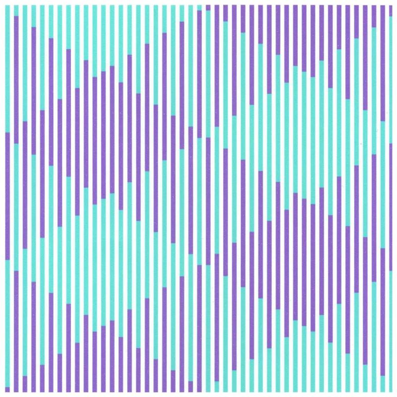 "Horst Barting, ""370 disjoints in violet 70 lines in green"" (źródło: materiały prasowe)"