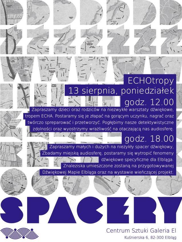 Warsztaty EchoTropy, plakat (źródło: materiały prasowe)