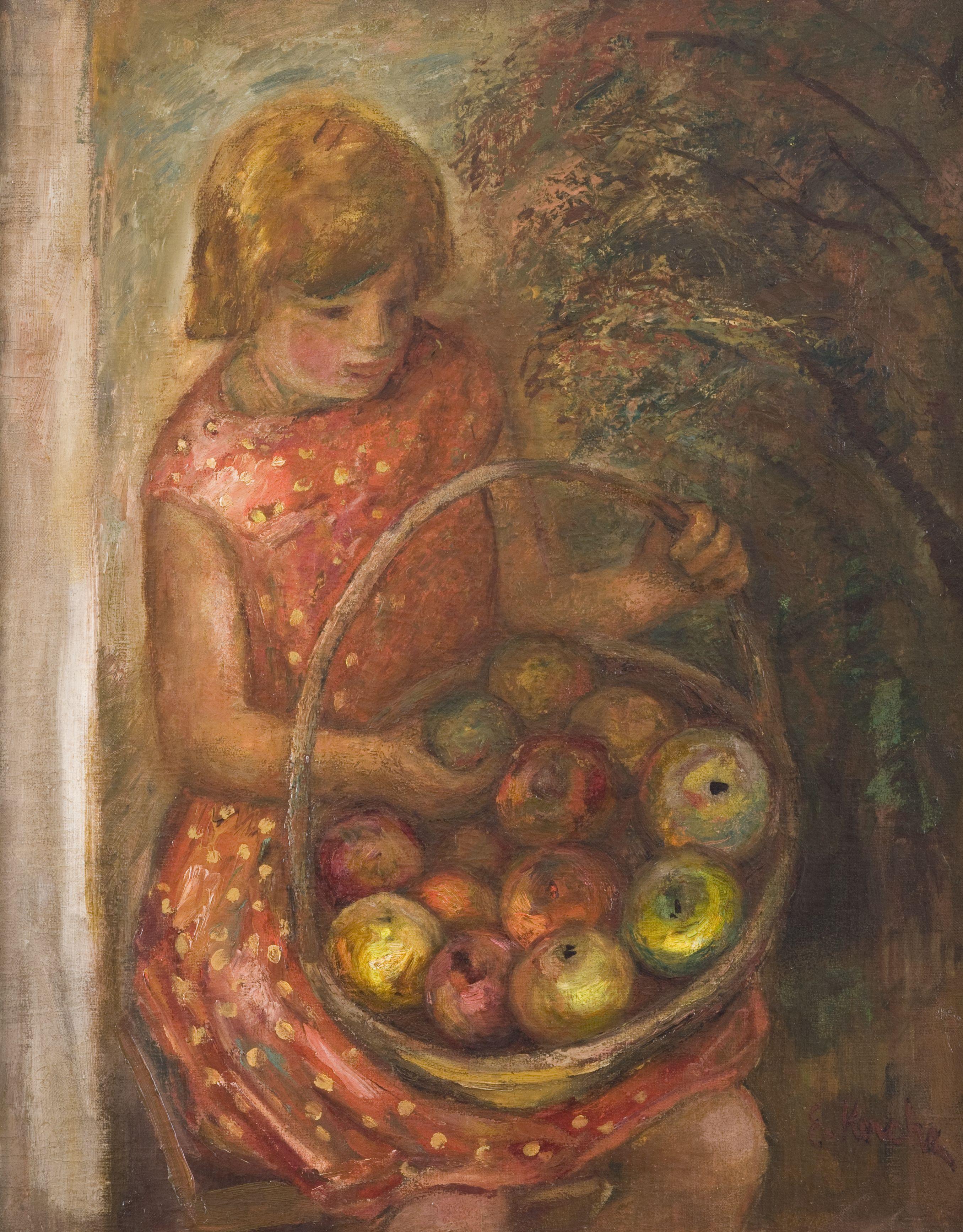 """Emil Krcha, """"Dziewczyna z jabłkami"""", 1931 (źródło: materiały prasowe)"""