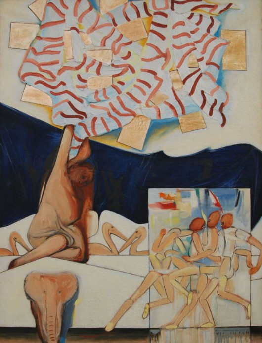 """Karol Pustelnik, """"Własne podwórko"""", 1968 (źródło: materiały prasowe)"""