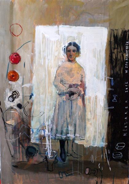 """Małgorzata Lazarek, """"Wspomnienie"""", 2012, olej płótno (źródło: materiały prasowe organizatora)"""
