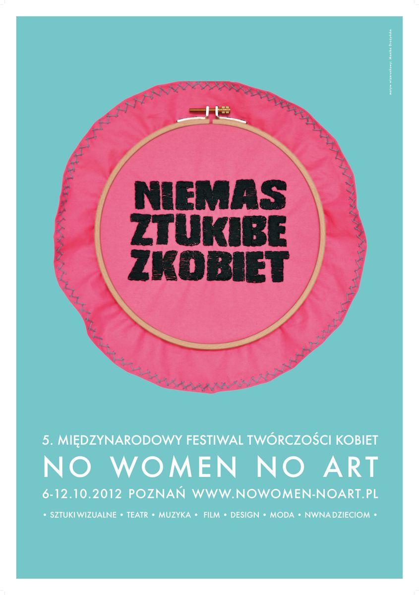"""5. Międzynarodowy Festiwal """"No Women No Art"""" w Poznaniu, plakat (źródło: materiały prasowe organizatora)"""