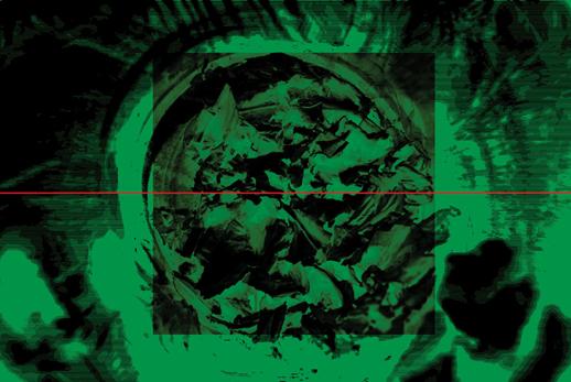 """Arkadiusz Marcinkowski, """"Trace â VII"""", druk solventowy, 100 x 70 cm, 2012 (źródło: materiały prasowe)"""