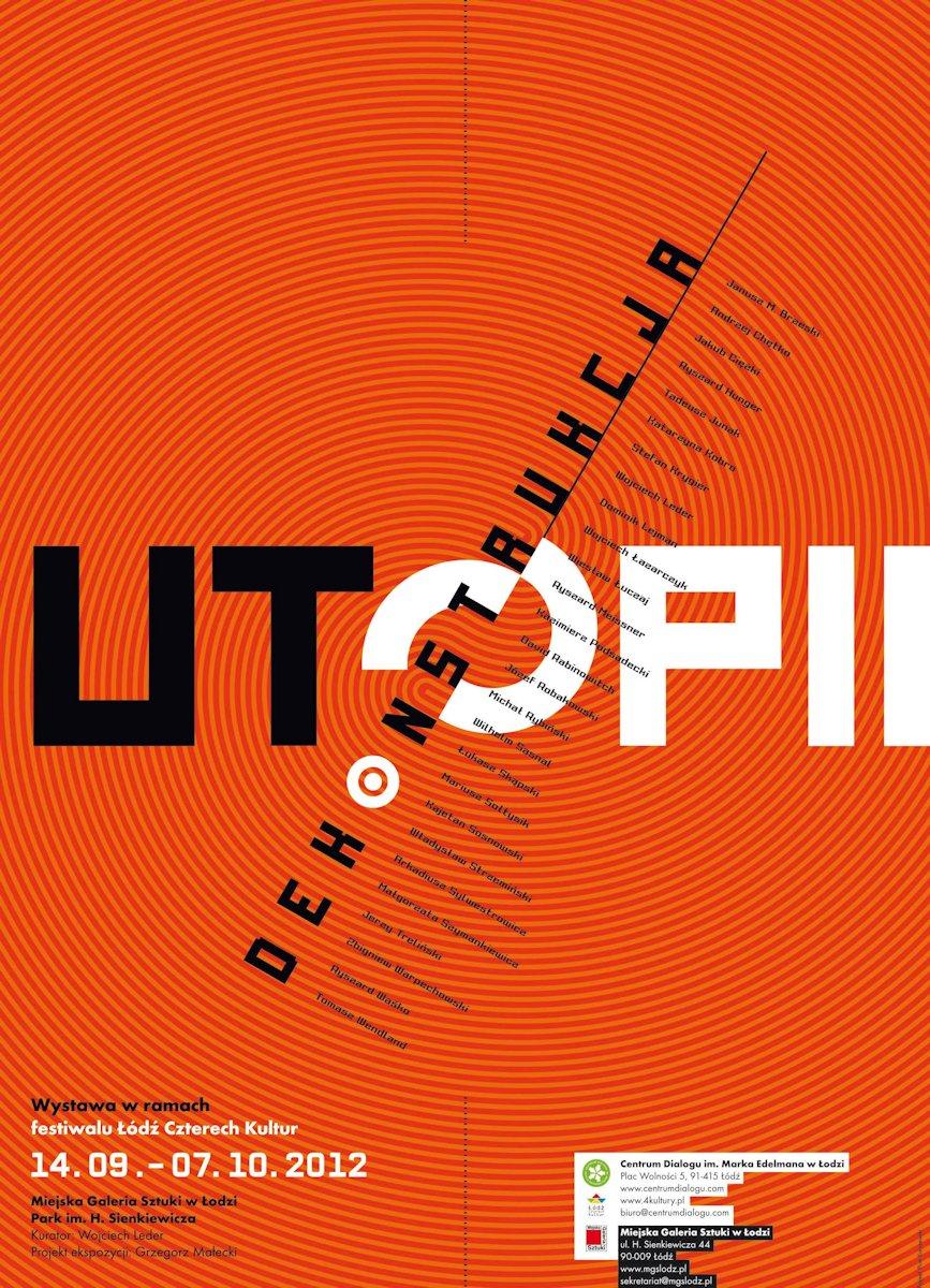 """""""Dekonstrukcja utopii"""", plakat, projekt: Piotr Karczewski (źródło: materiały prasowe organizatora)"""