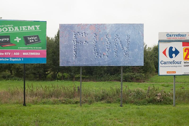 """Thomas Mailaender, """"FUN"""", w ramach projektu Billboard International, Oświęcim 2012 (źródło: materiały prasowe)"""