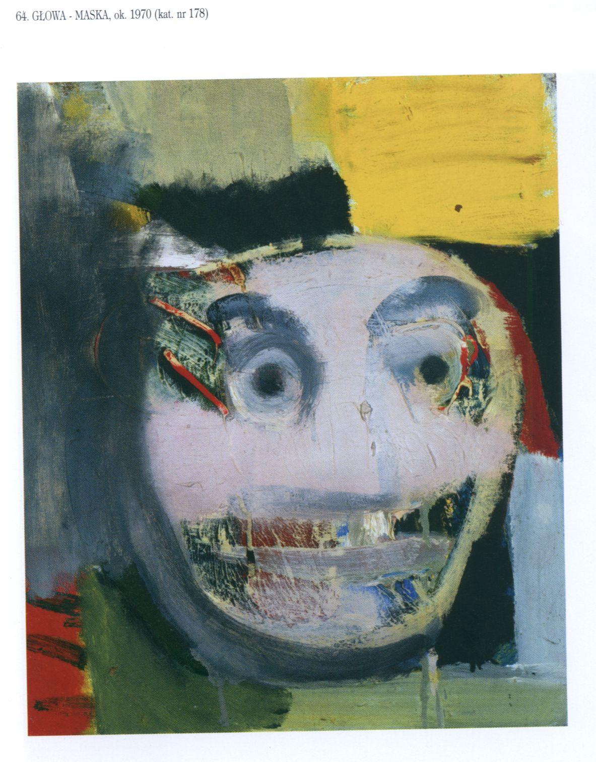 Artur Nacht-Samborski, Głowa maska, 1970, olej, płótno (źródło: materiały prasowe)
