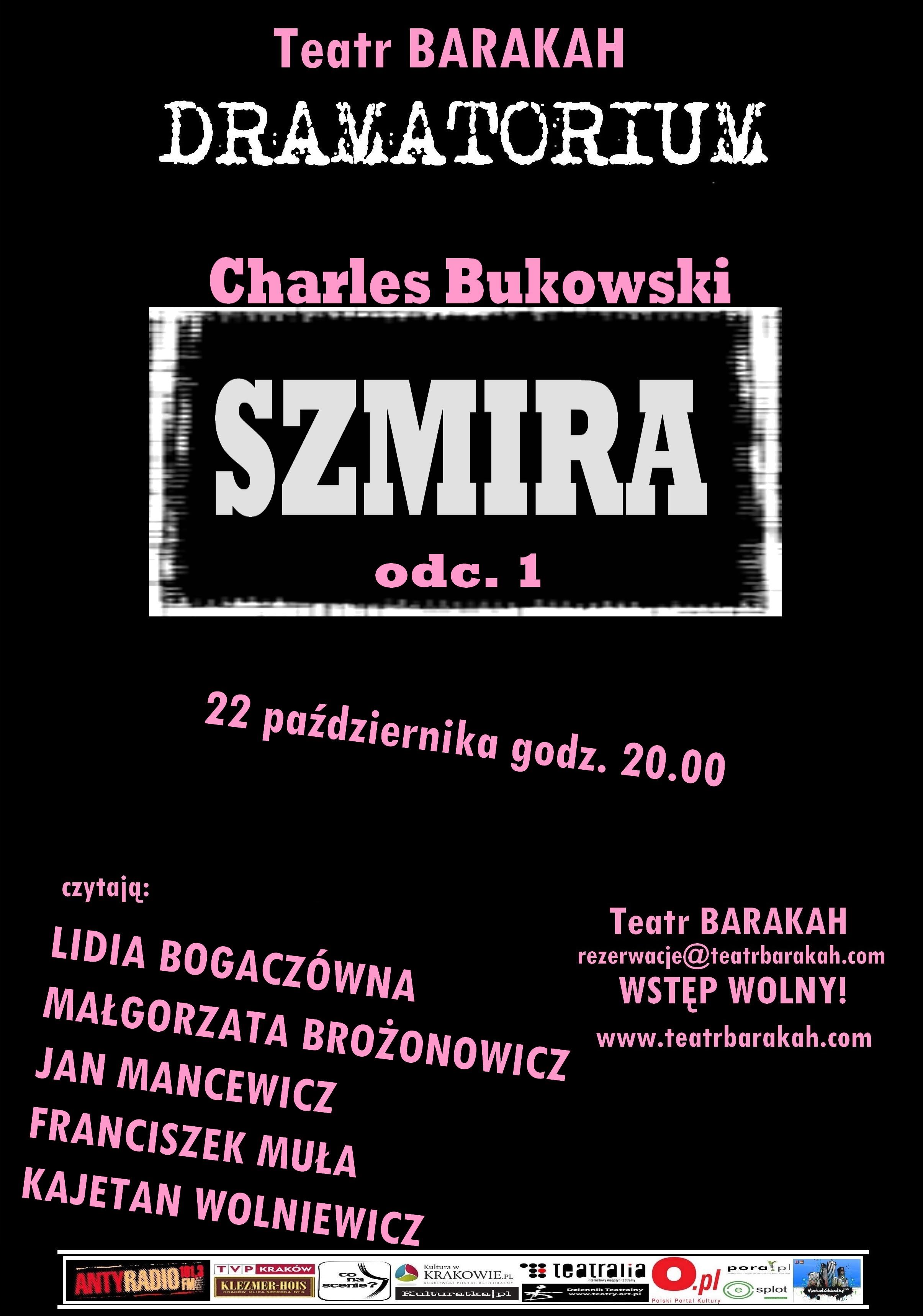 Dramatorium: Charles Bukowski, plakat (źródło: materiały prasowe organizatora)