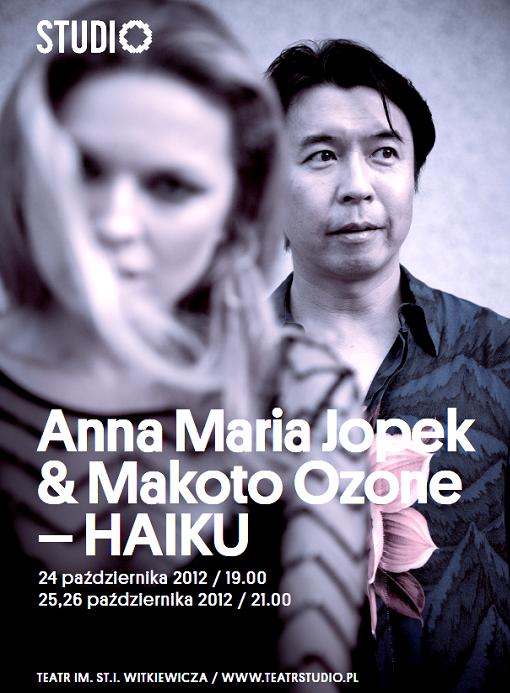 Anna Maria Jopek i Makoto Ozone, plakat (źródło: materiały prasowe organizatora)