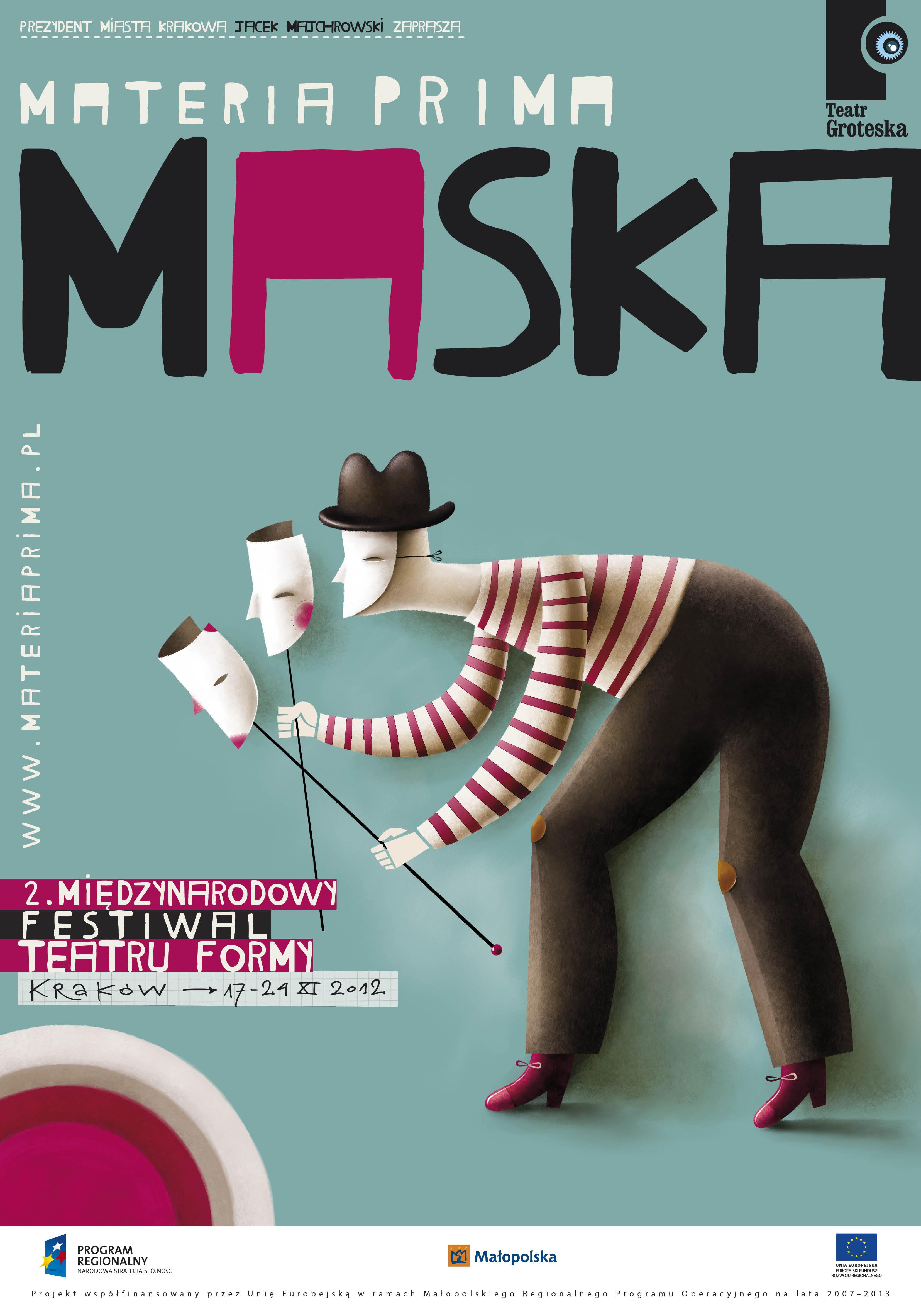 Materia Prima. Forma. 2. Międzynarodowy Festiwal Teatru Formy, plakat (źródło: materiały prasowe organizatora)