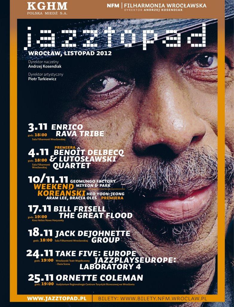 plakat Festiwalu Jazztopad ( źródło: materiały prasowe organizatora)