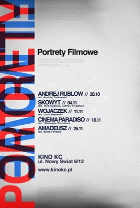 """Przegląd filmów """"Portrety filmowe"""" - plakat (źródło: materiały prasowe organizatora)"""