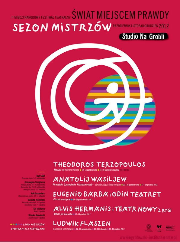 """II Międzynarodowy Festiwal Teatralny """"Świat miejscem prawdy"""" Sezon Mistrzów, plakat (źródło: materiały prasowe organizatora)"""