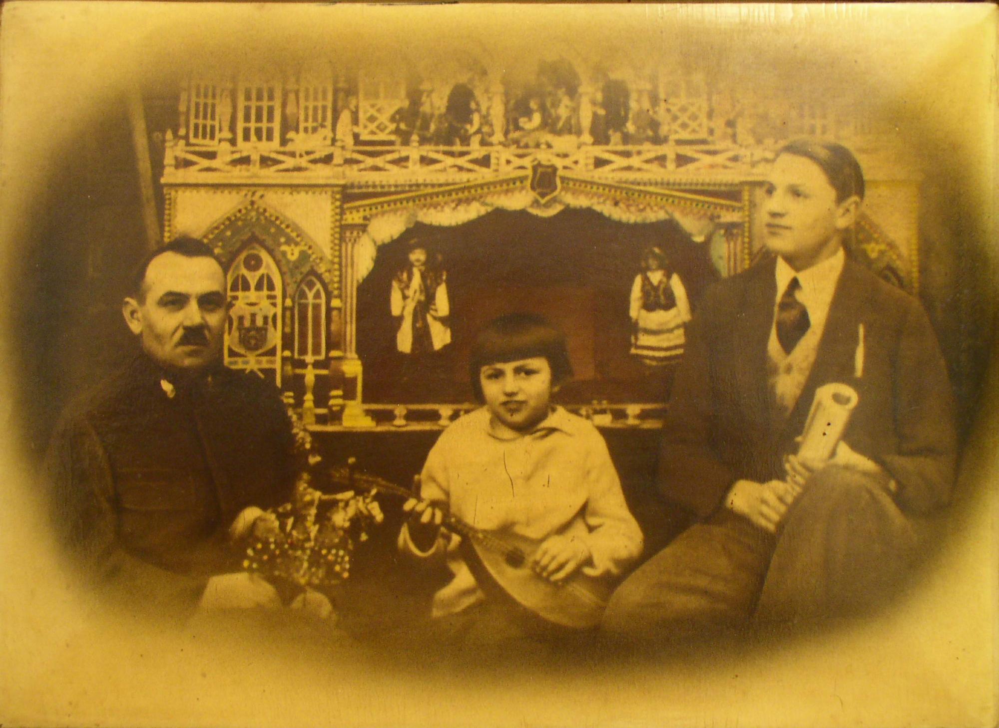 Walenty Malik, córka Irena, Syn Włodzimierz (źródło: materiały prasowe Muzeum Historycznego Miasta Krakowa)