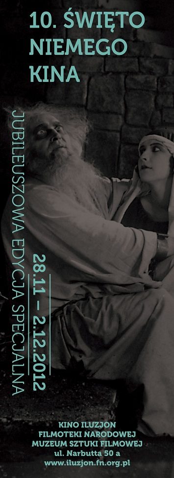10. Święto Niemego Kina w Warszawie - plakat (źródło: materiały prasowe)