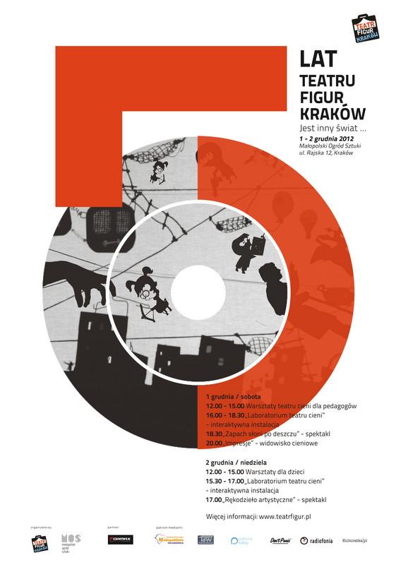 5 lat Teatru Figur Kraków, plakat (źródło: materiał prasowy)