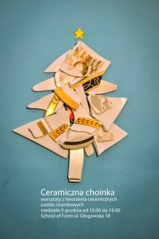 """Warsztaty """"Ceramiczna choinka"""" (źródło: materiały prasowe organizatora)"""