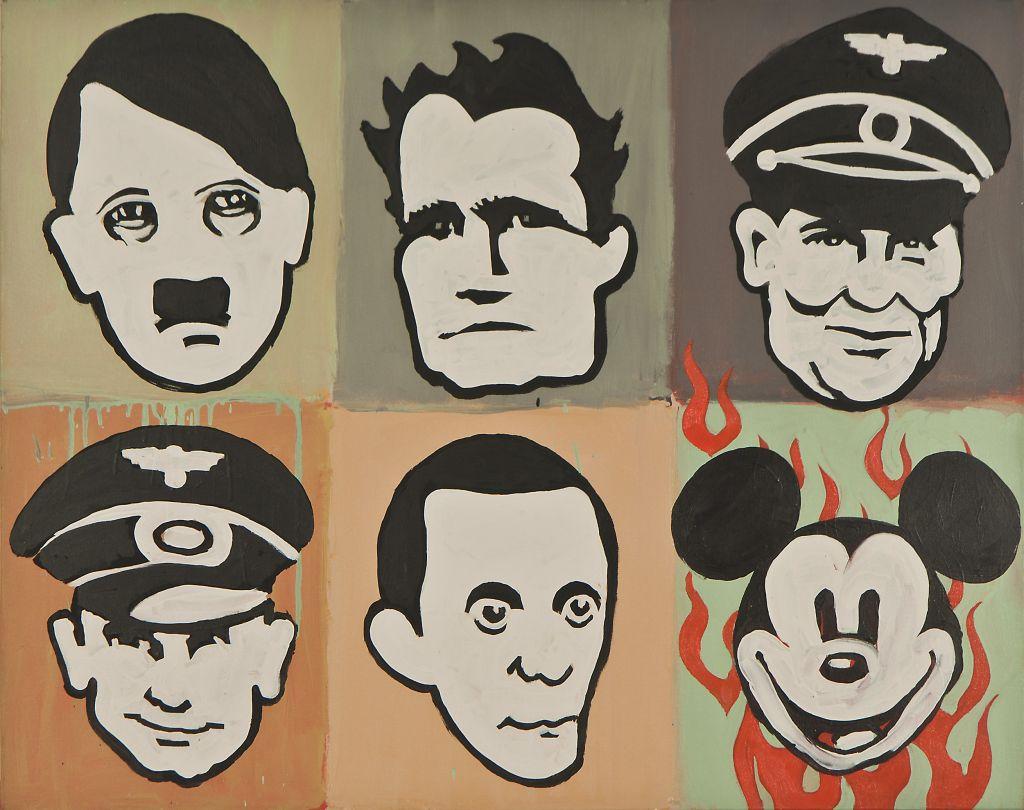 """Dariusz Fodczuk, """"Heroes"""", 2011, akryl, płótno, 80x100cm, kolekcja (źródło: materiały prasowe organizatora)"""