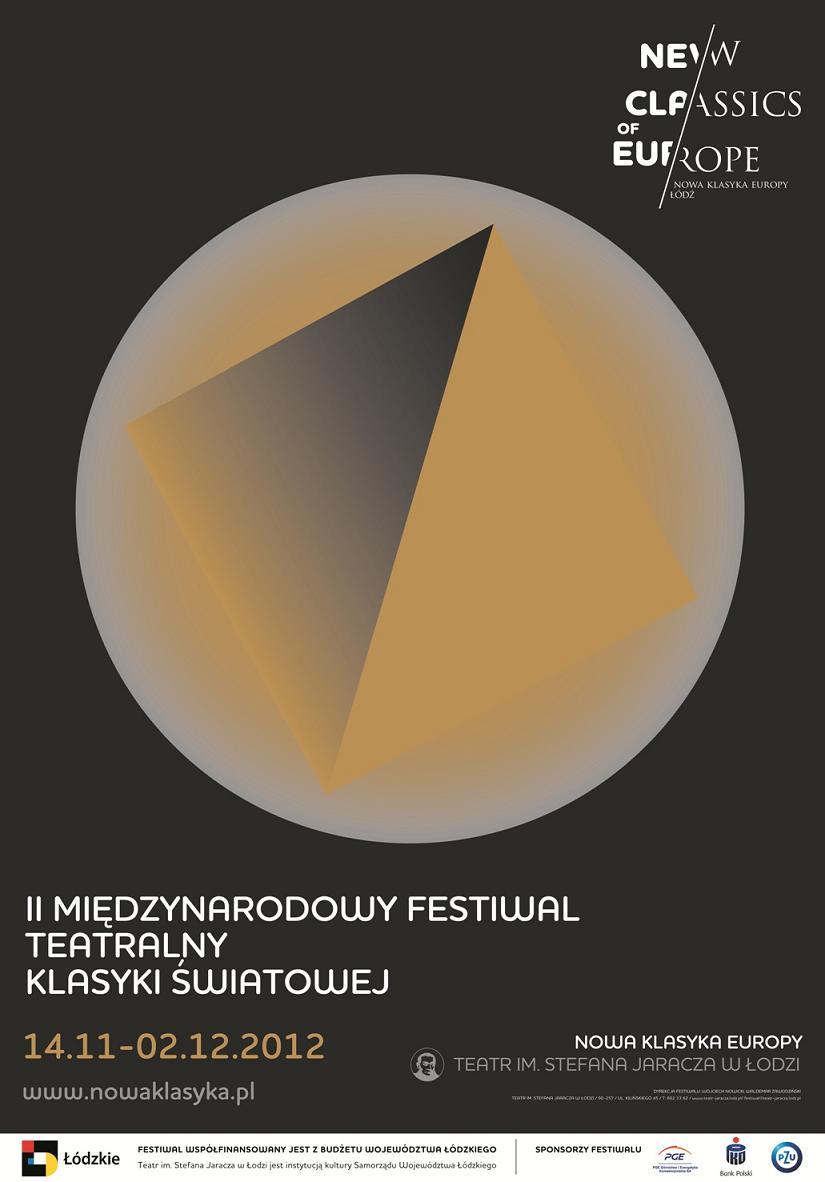 II Międzynarodowy Festiwal Teatralny Nowa Klasyka Europy, plakat (źródło: materiał prasowy)