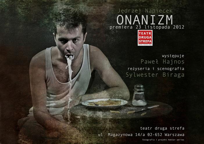 """""""Onanizm"""", reż. Sylwester Biraga - plakat (źródło: materiały prasowe)"""