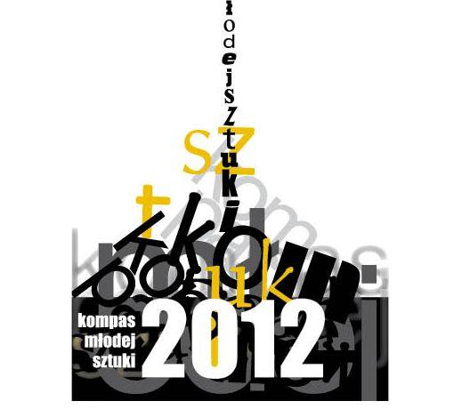 Kompas Młodej Sztuki 2012, plakat (źródło: materiały prasowe organizatora)