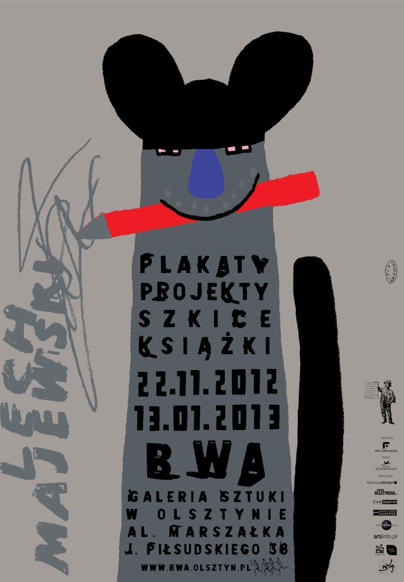 Wystawa Lecha Majewskiego w Galerii Sztuki BWA w Olsztynie, plakat (źródło: materiały prasowe organizatora)