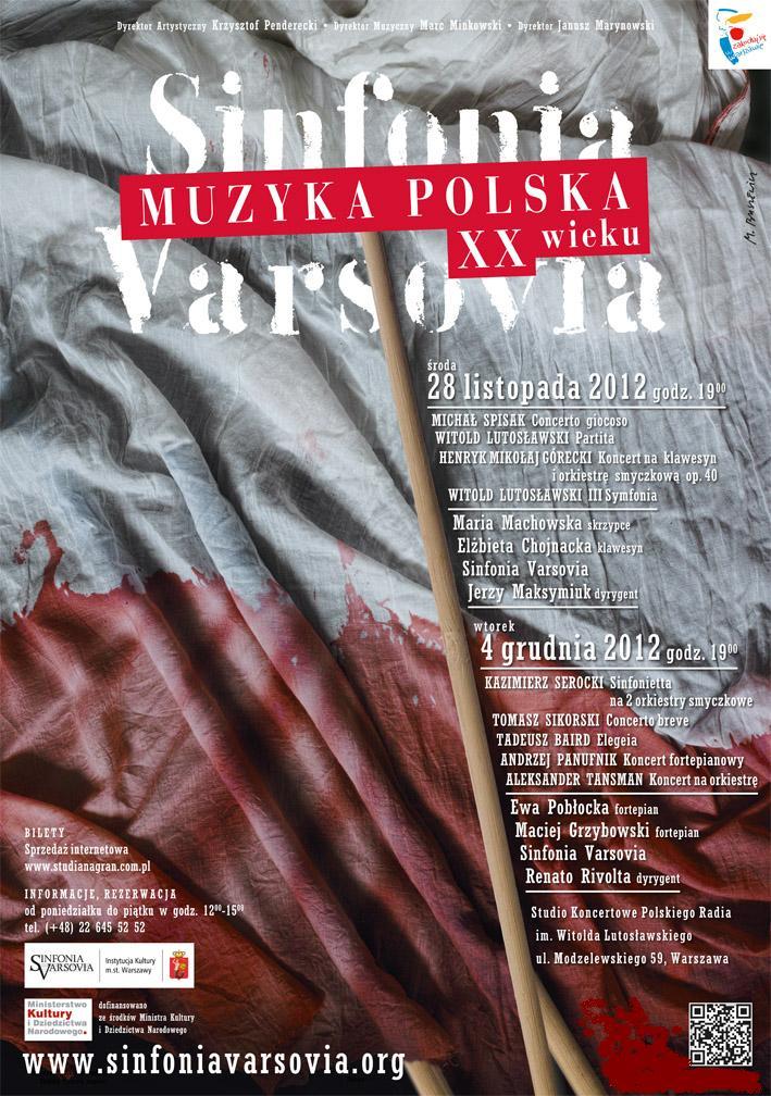 """Plakat """"Muzyka Polska XX wieku"""" (źródło: materiały prasowe)"""