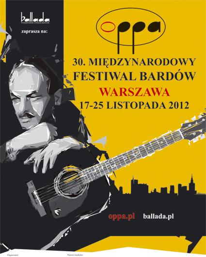 Plakat 30. Miedzynarodowego Festiwalu Bardow (źródło: materiały prasowe)