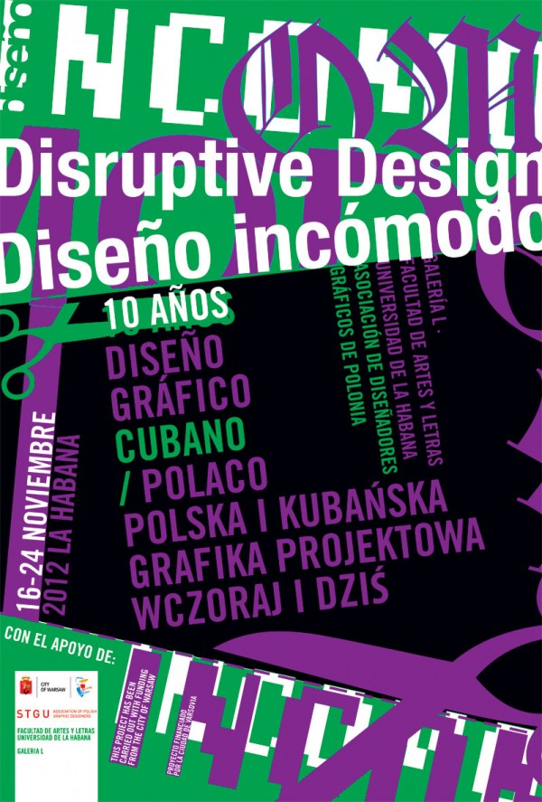 """""""Diseño incómodo"""", polska i kubańska grafika projektowa (źródło: materiały prasowe organizatora)"""