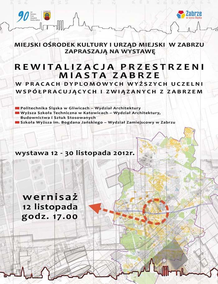 """Wystawa """"Rewitalizacja przestrzeni miasta Zabrze"""" (źródło: materiały prasowe organizatora)"""