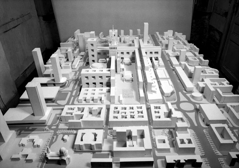 Wizja centrum Warszawy autorstwa Jacka Damięckiego i Jana Gootsa, 1991 (źródło: materiały prasowe organizatora)